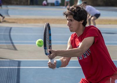 Men's tennis action in 2018.