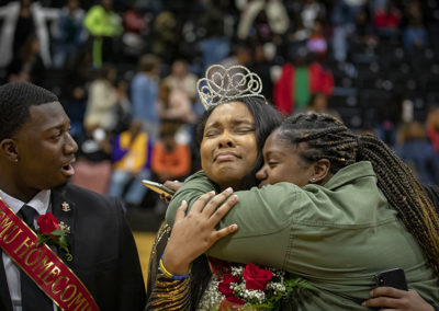 Brandon Jackson of Augusta, Ga. and Caira Wilson of Columbia were elected king and queen of Francis Marion's Homecoming on Saturday, Feb. 1.