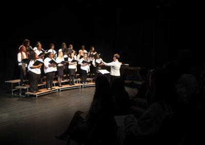 Members of FMU Choir perform in April 2019.