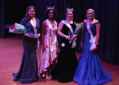 Alexa Williamson of Kershaw was crowned Ms. FMU tonight at the annual Ms. FMU Pageant in the McNair Auditorium. Katelyn Coker of Lake City was named first runner-up and Rian Avin of Florence was named second runner-up. Congratulations, ladies!