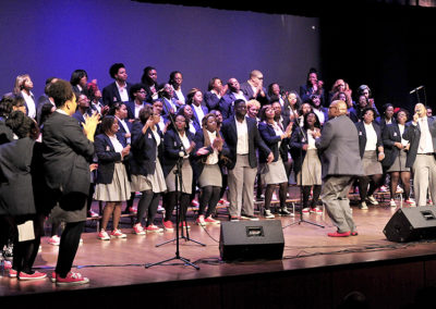 Members of FMU's Young,Gifted, and Blessed Choir perform in 2014.